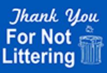 no littering logo