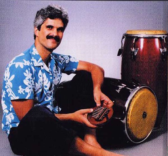 Jorge Cuevas with instruments