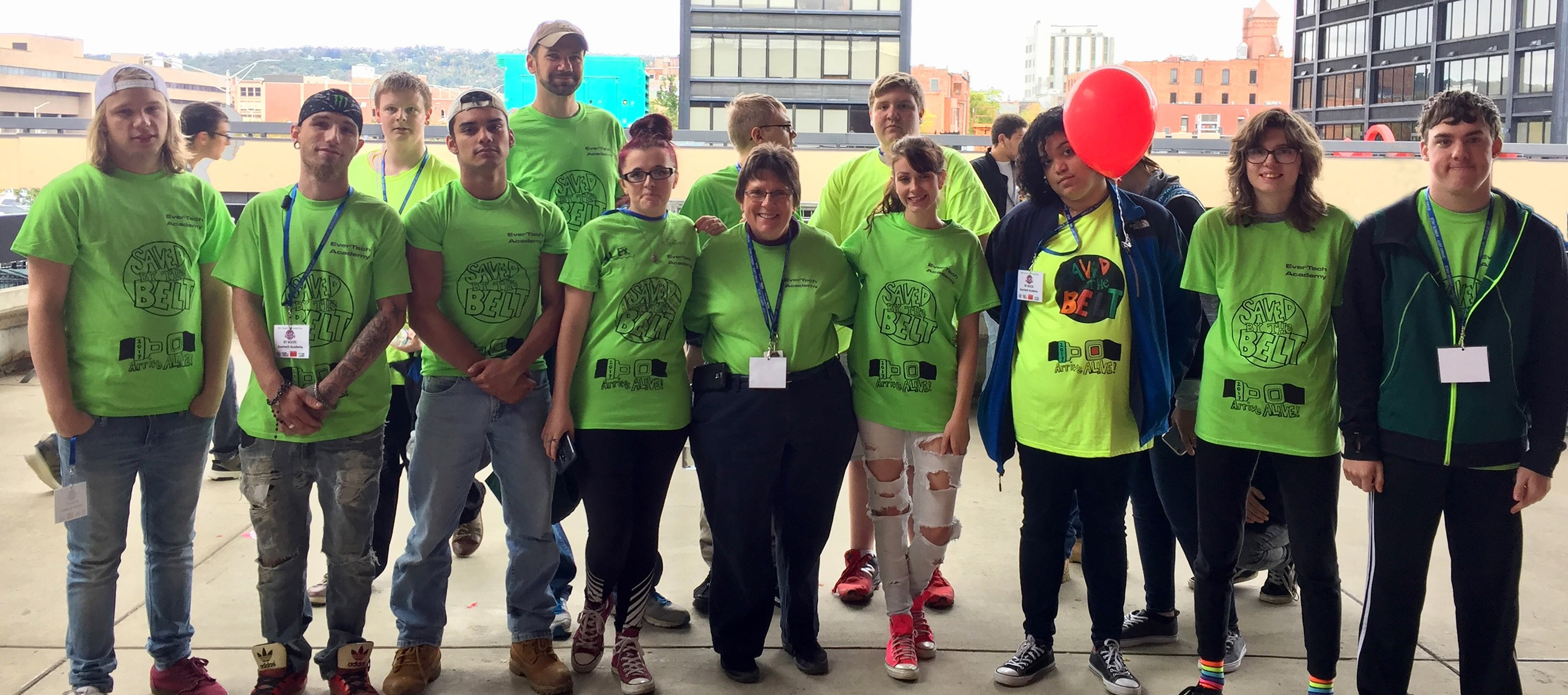 Evertech T-shirt design voted best at Teen Traffic Safety Day
