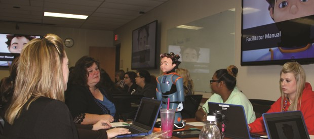 Teachers learn to work with Milo, Robots4Autism