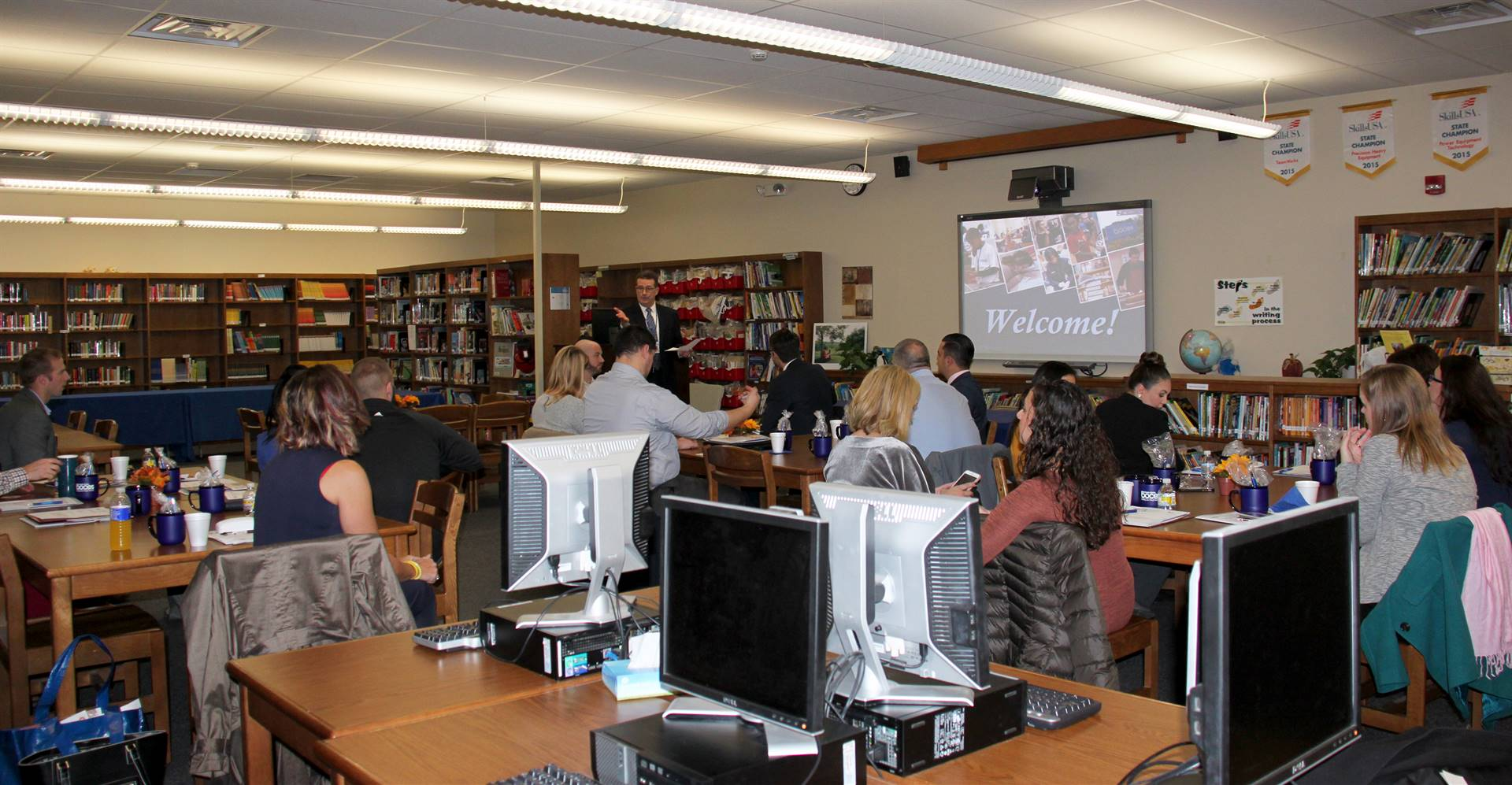 Community business leaders at education session at Broome-Tioga BOCES
