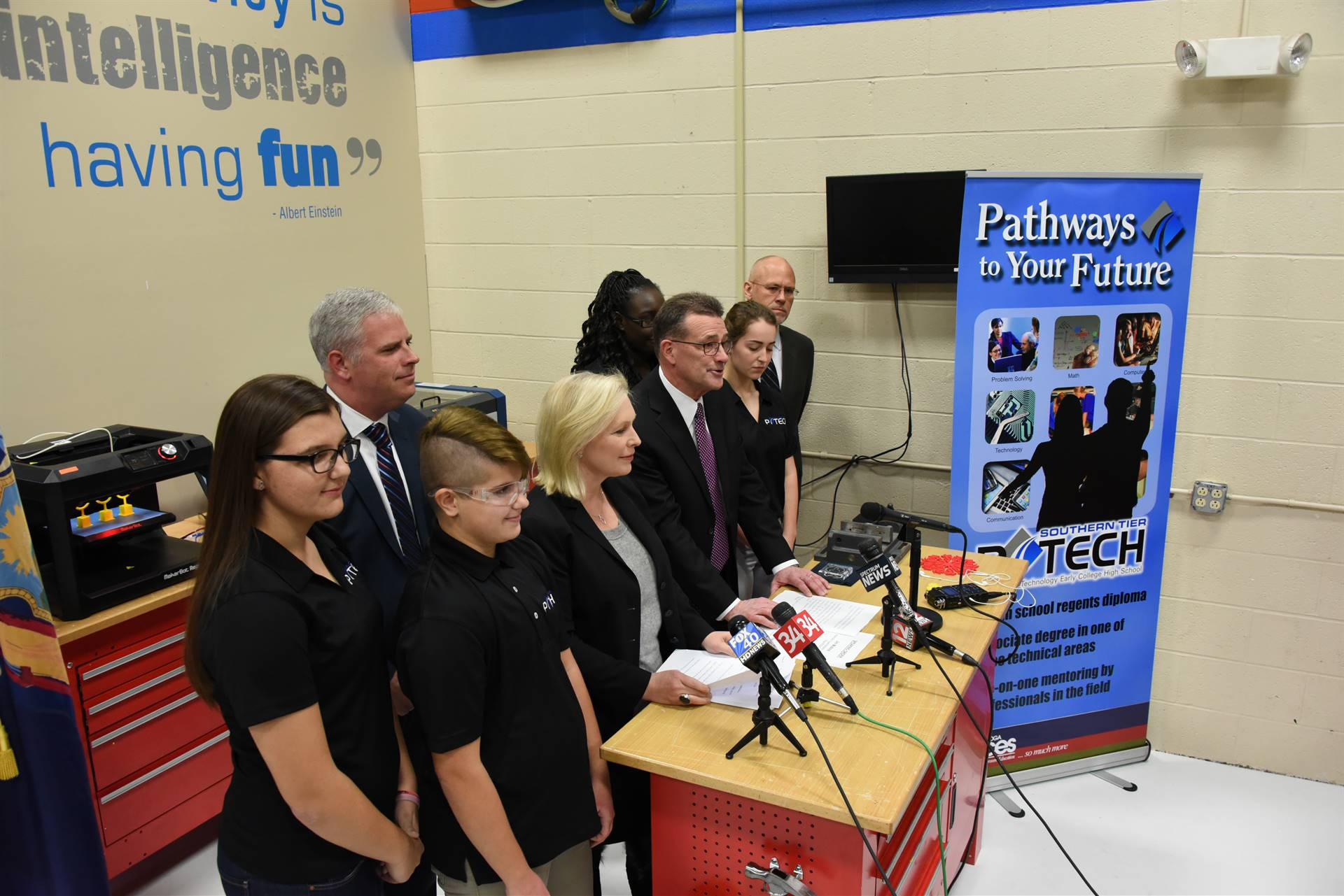US Sen Gillibrand visits BOCES