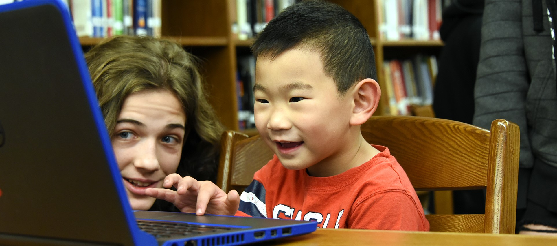 P-TECH Computer Science students introduce preschoolers to coding