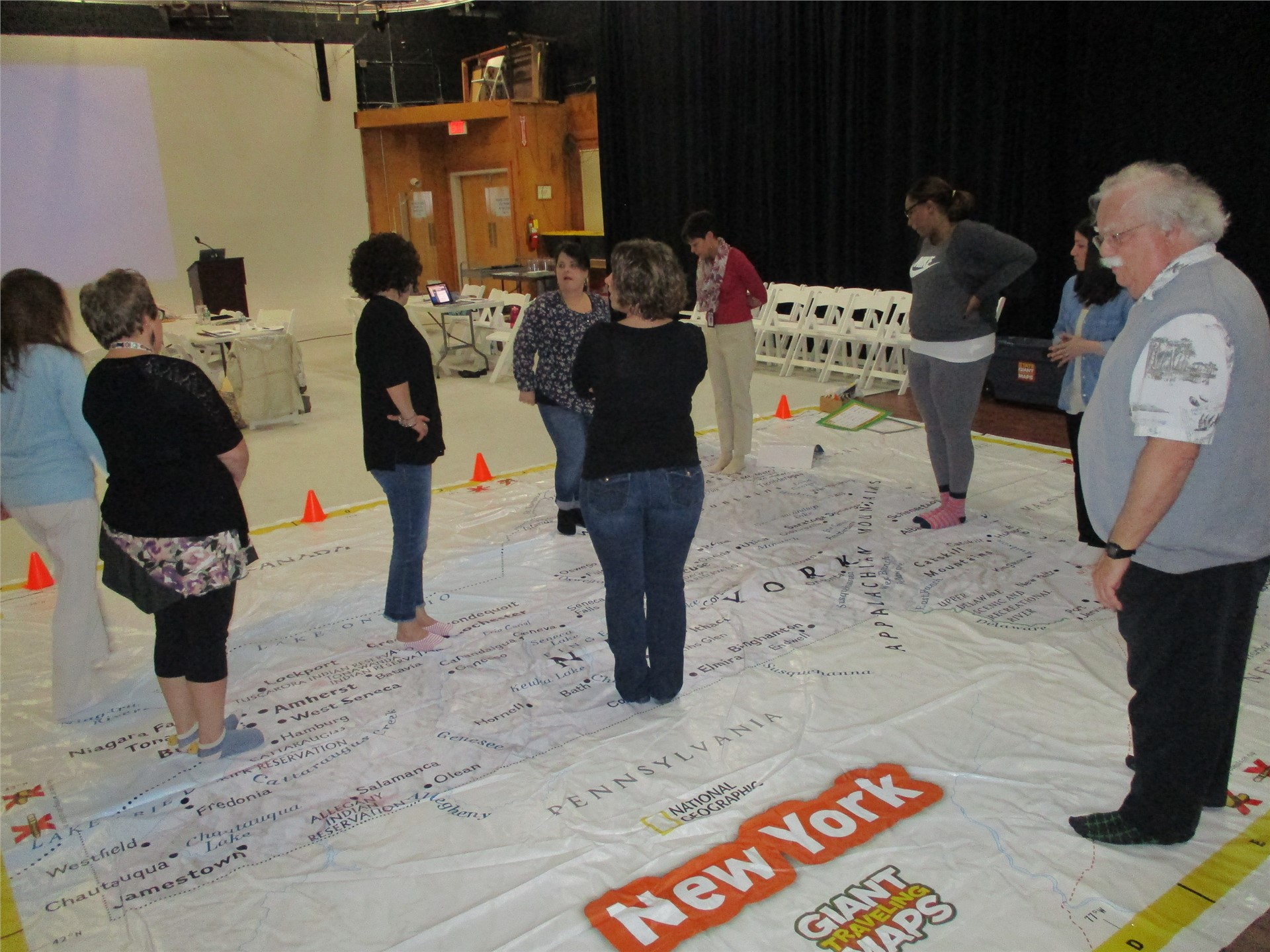 Learning to use the giant map of NYS