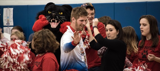 World Champion - BOCES Special Olympian welcomed back from Austria winter games
