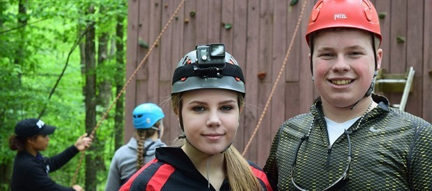 Students at wilderness adventure