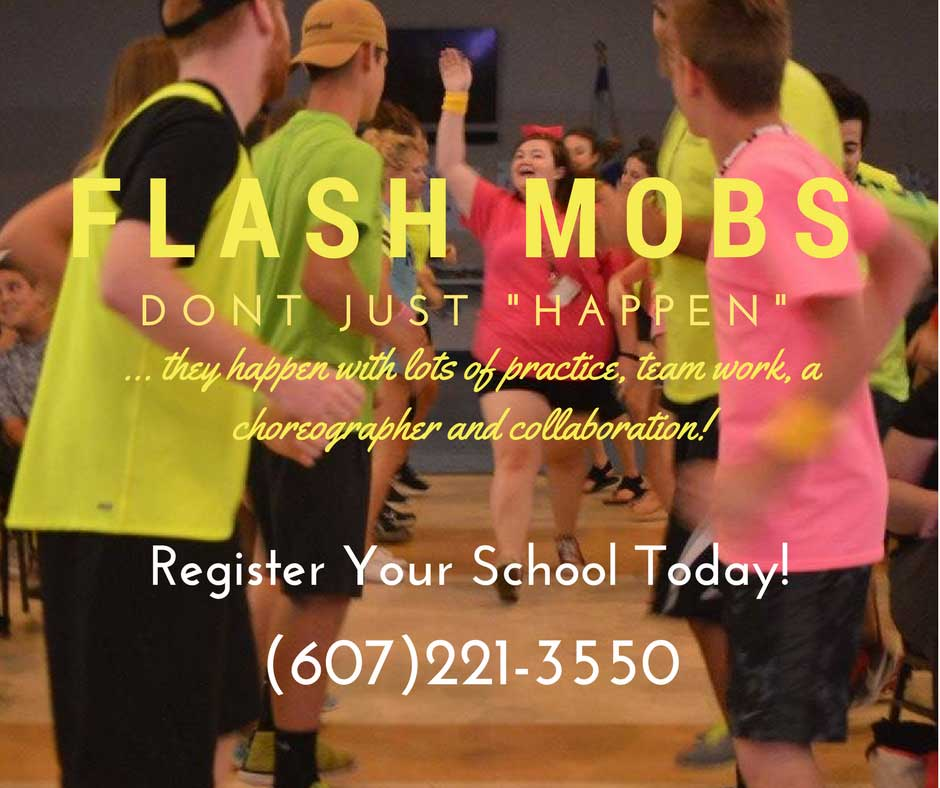 Katie Barlow's Flash Mobs flyer