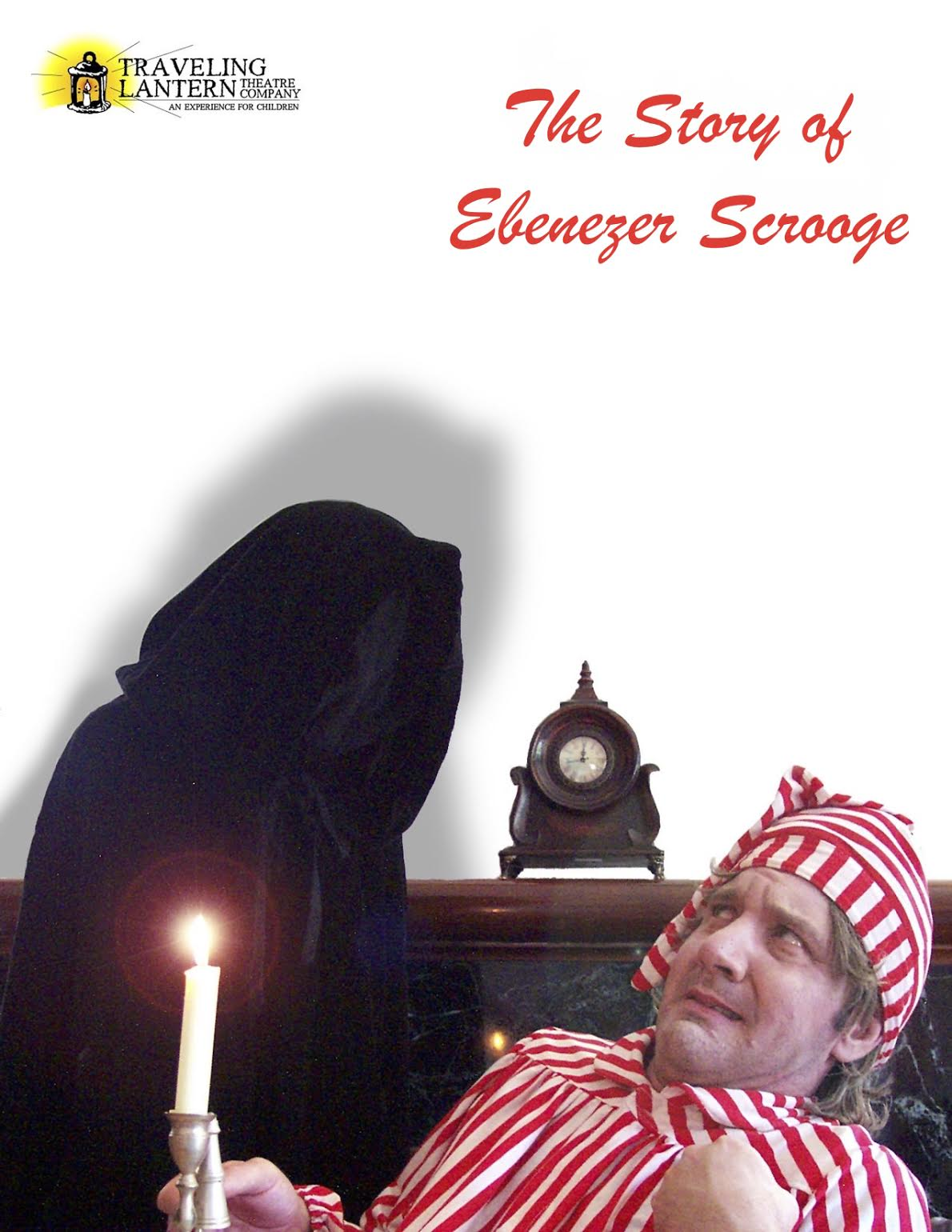 Ebenezer Scrooge with Ghost of Christmas Past