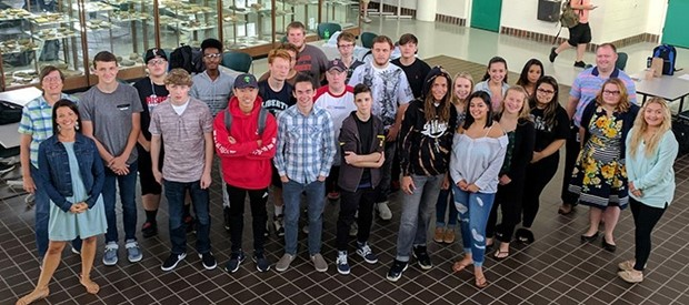 12th-grade early college P-TECH students' first day at SUNY Broome