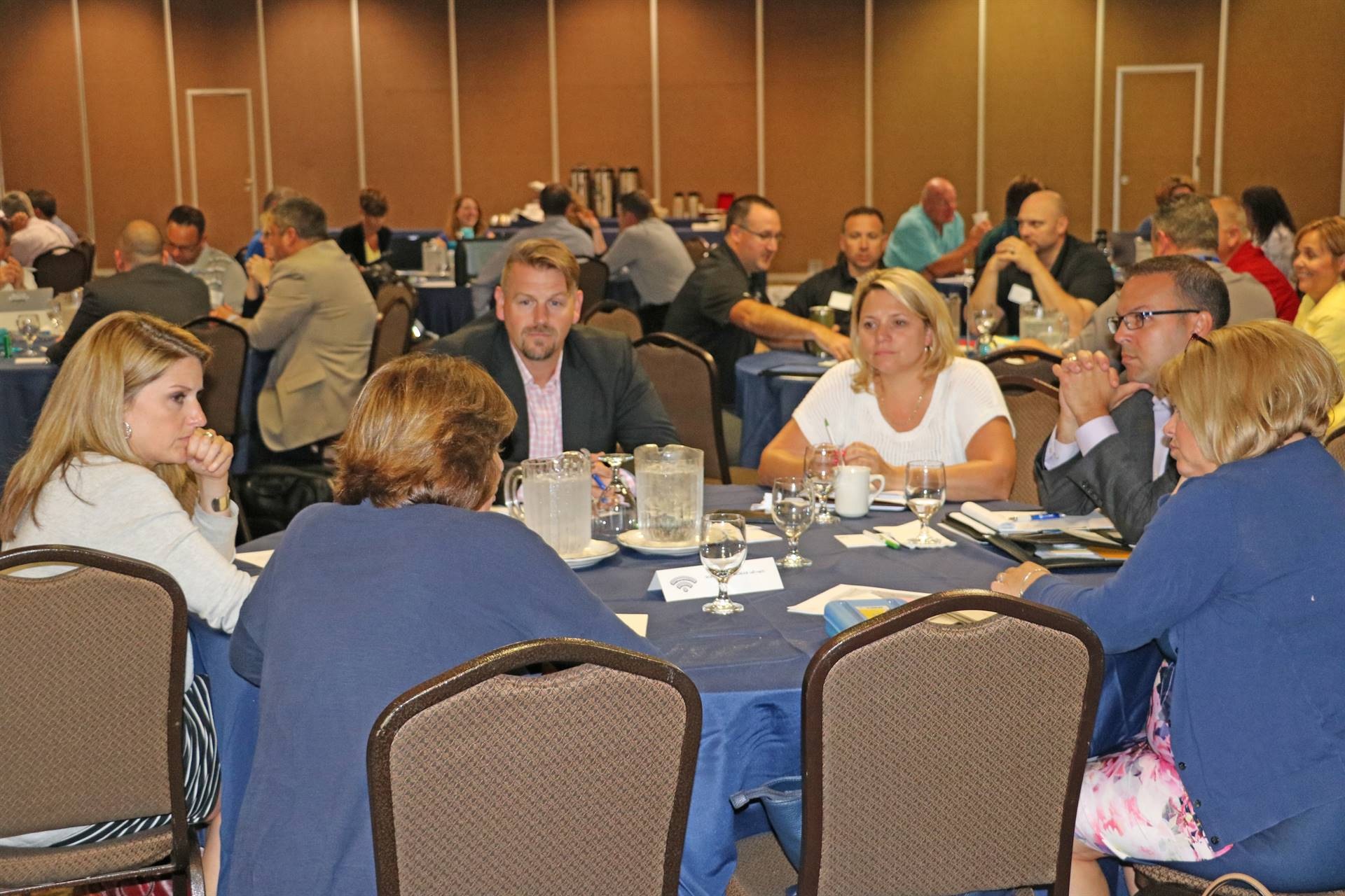 Principals' Academy Participants having round table discussion