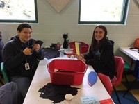 New Visions Health Academy students volunteer at Discovery Center
