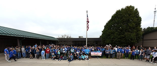 Students, staff stand together against bullying - kick off month-long focus