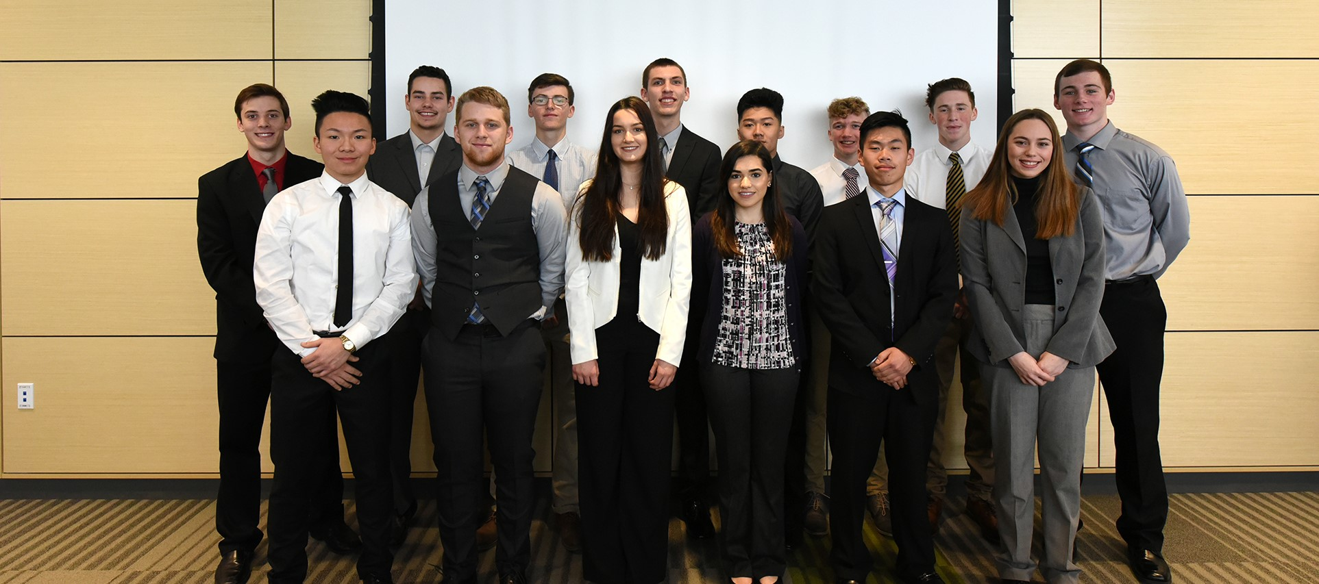 New Visions Business Academy students present Junior Achievement success