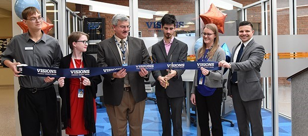 Students, officials cut ribbon for new Visions FCU branch at BOCES