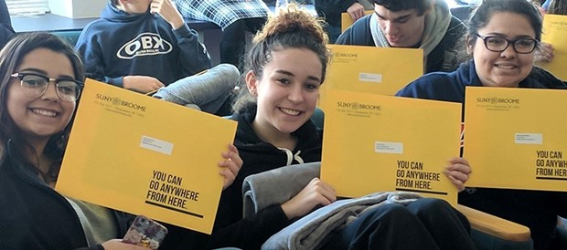 BOCES P-TECH seniors receive acceptance letters to SUNY Broome