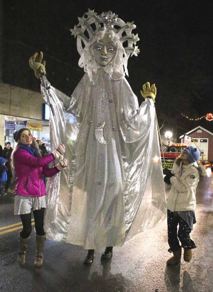 Snow Queen large puppet in a parade