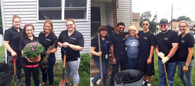 Evertech and P-TECH students volunteer for Day of Caring