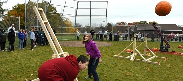 Pumpkin launch provides lessons in 'STEM' (science, technology, engineering, math)