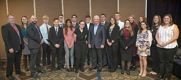 New Visions business students meet Dick's Sporting Goods CEO Ed Stack