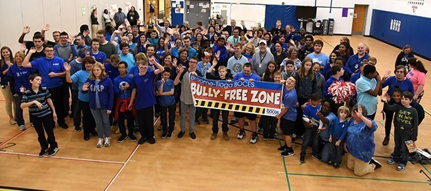BOCES staff, students kick off 'Bullying Prevention Month' with show of support