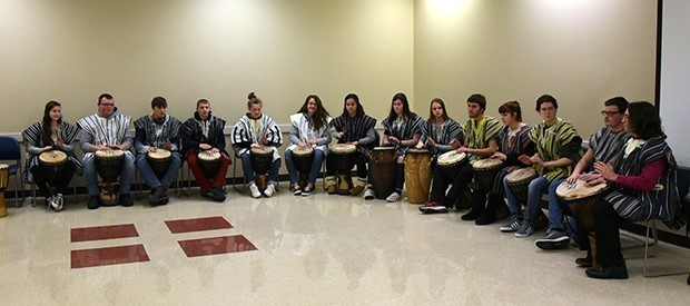 The Deposit Central School District African Drumming Ensemble performs at BOCES