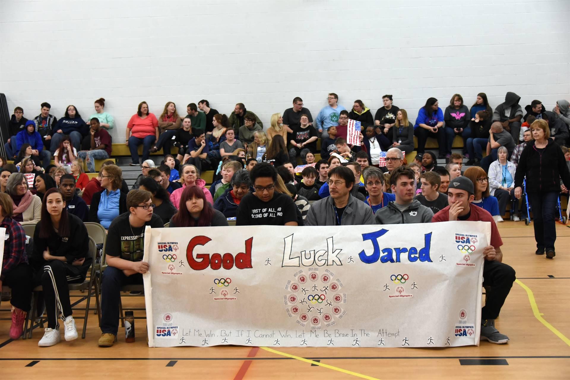 Jared Lamb World Games pep rally