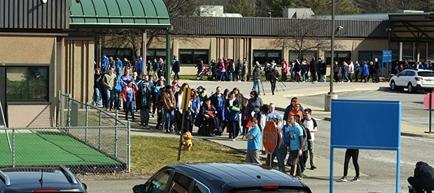 BOCES students, staff march in recognition of Autism Awareness Day