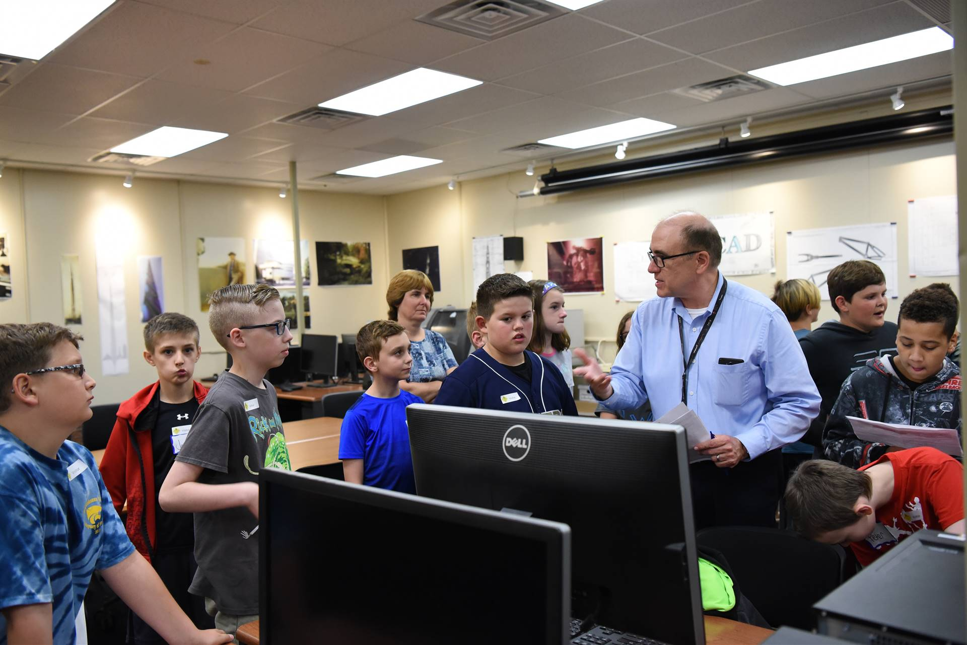 Fifth-graders visit CTE