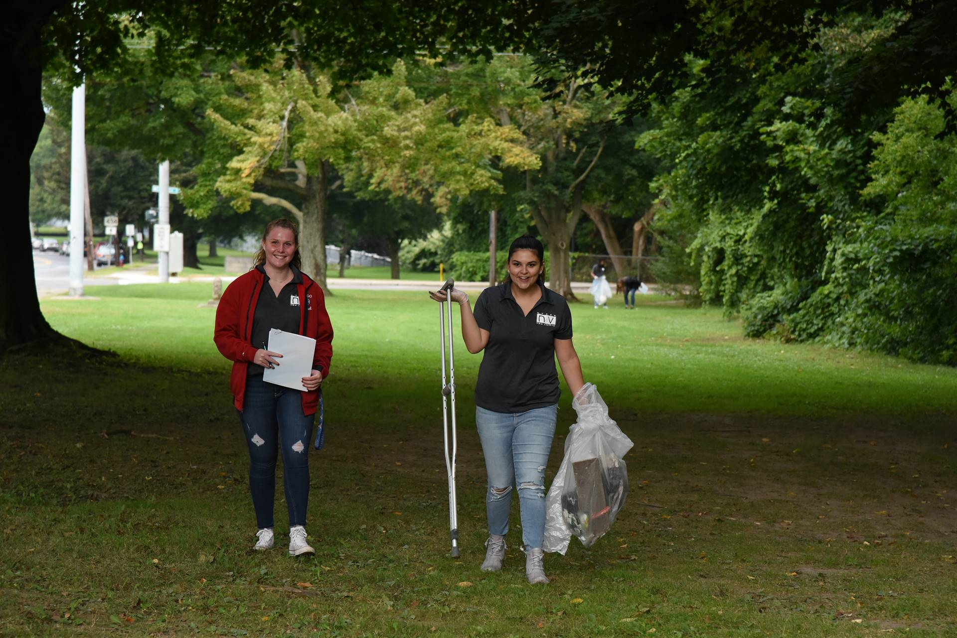 New Visions Students Audit Litter on Southside Binghamton