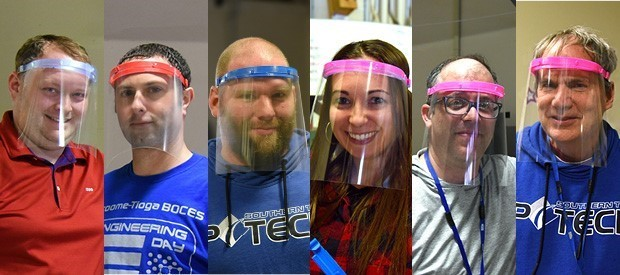 BOCES staffers team up to create, donate face shields in pandemic fight
