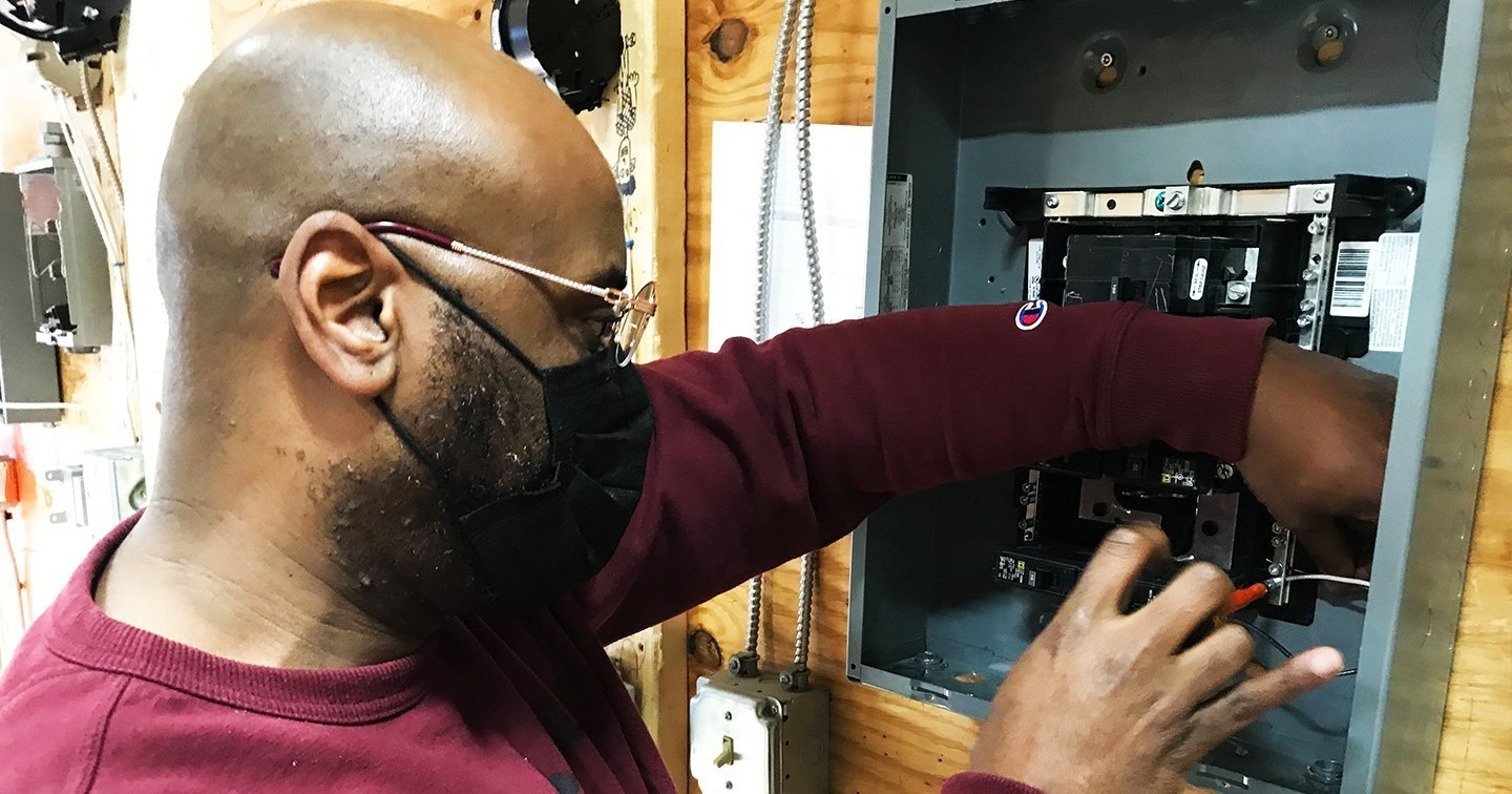 Adult ed Electrical student