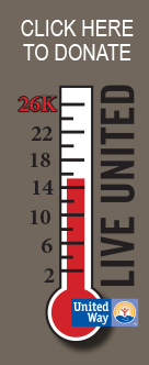 United Way Pledge thermometer