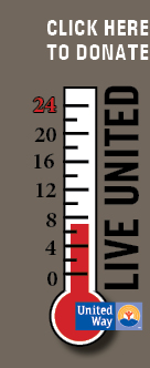 United Way donation meter